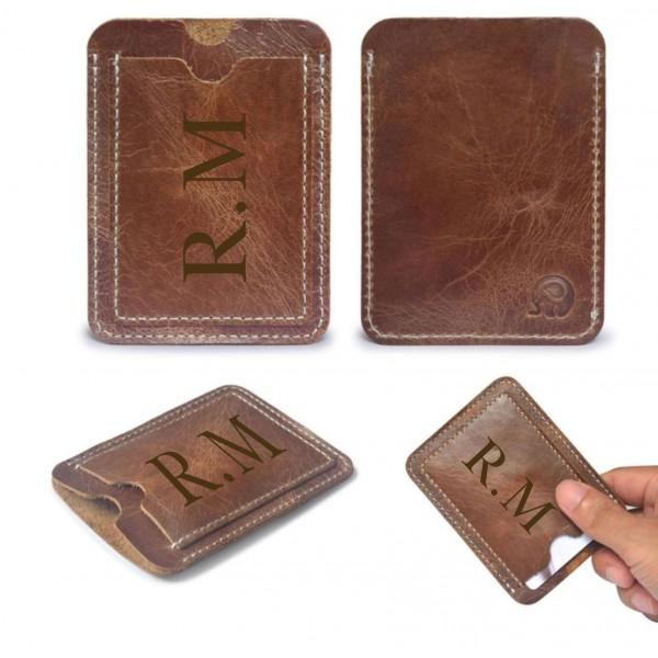 Personalised Leather Sleeve Wallet
