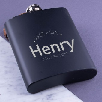 PERSONALISED METAL HIP FLASK