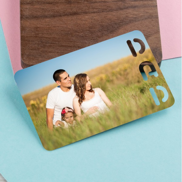 Personalised Photo Wallet Insert DAD