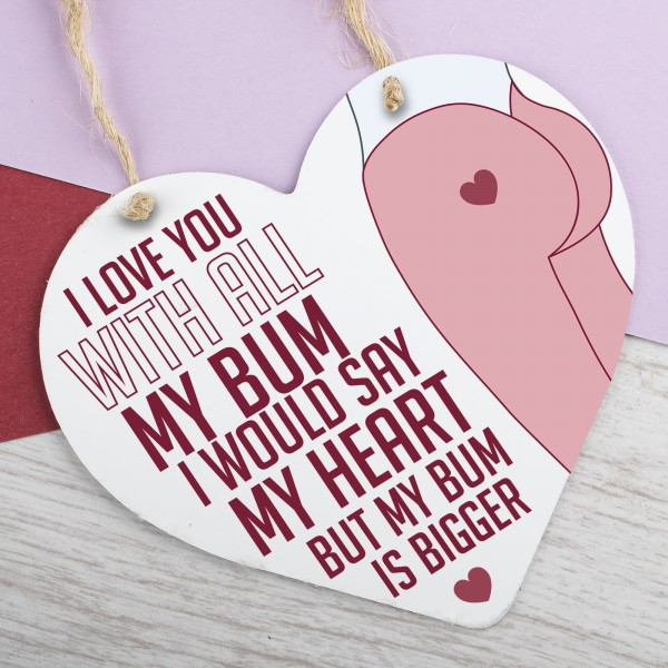 Metal Heart Plaque I Love You PPL-118