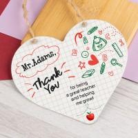 Personalised Metal Heart Plaque Teacher PPL-201