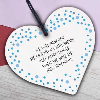 Wooden Heart Plaque Message to Loved One