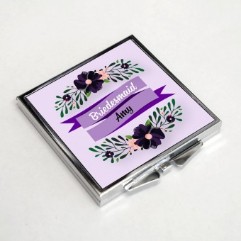 Personalised Pocket Mirror - Rectangle