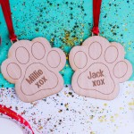 Personalised Christmas Pet Ornaments - Pack of Two #104