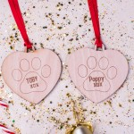 Personalised Christmas Pet Ornaments - Pack of Two #101