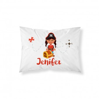 Personalised Pirate Pillowcase
