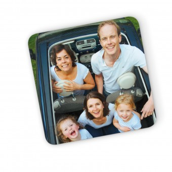 Personalised Engraved Wooden Photo Coaster Rectangle