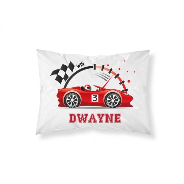 Personalised Racing Car Pillowcase