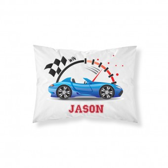 Personalised Racing Car Pillowcase