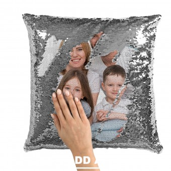 Personalised Sequin Photo Cushion Cover
