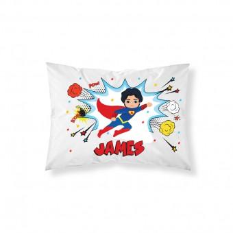 Personalised Superhero Pillowcase
