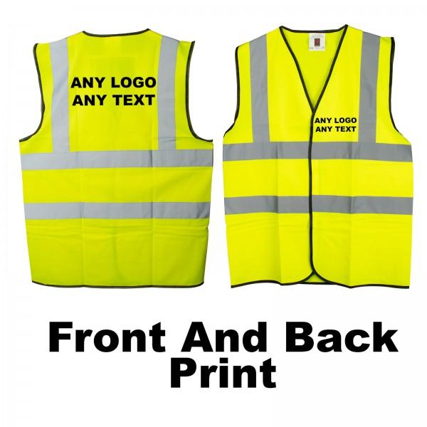 Personalised Hi VIZ Vest Safety Waistcoat