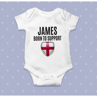 Personalised White Baby Body Suit Grow Vest World Cup 2018