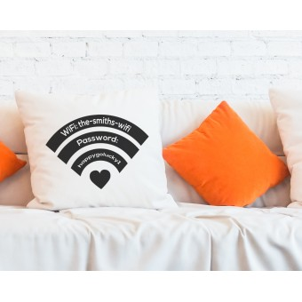 Personalised Home WiFi Network Access Cushion Cover