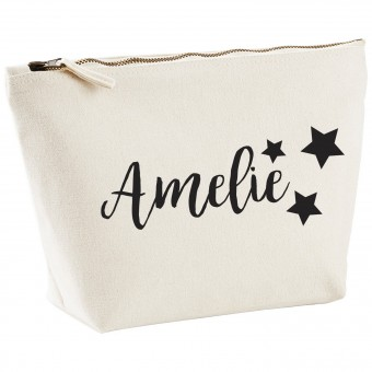 Personalised Canvas Makeup Bag