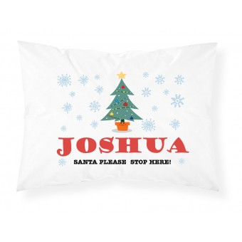 Personalised Christmas Childrens Pillowcase