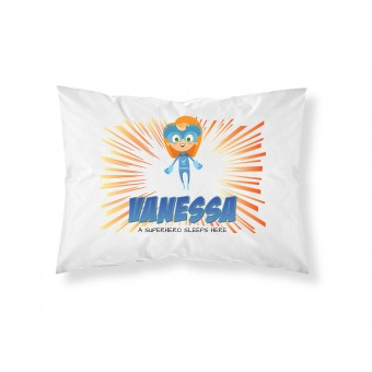 Personalised Children Superhero Pillowcase