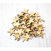 50 or 100 Plywood Star Shapes