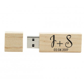 Personalised Wooden USB Drive - 8Gb
