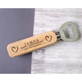 Personalised Engraved Wooden Bottle Opener - WBON-104
