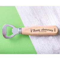 Personalised Engraved Wooden Bottle Opener - WBONS-101