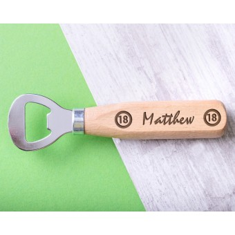 Personalised Engraved Wooden Bottle Opener - WBONS-107