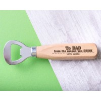 Personalised Engraved Wooden Bottle Opener - WBONS-108