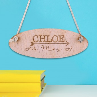 Personalised Wooden Door Sign