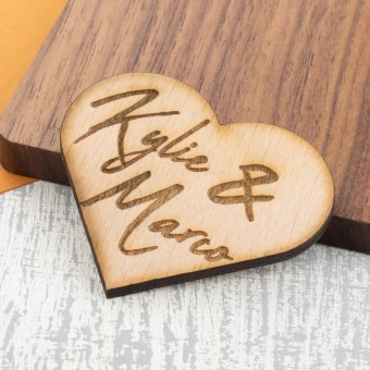 Personalised Wooden Fridge Magnet