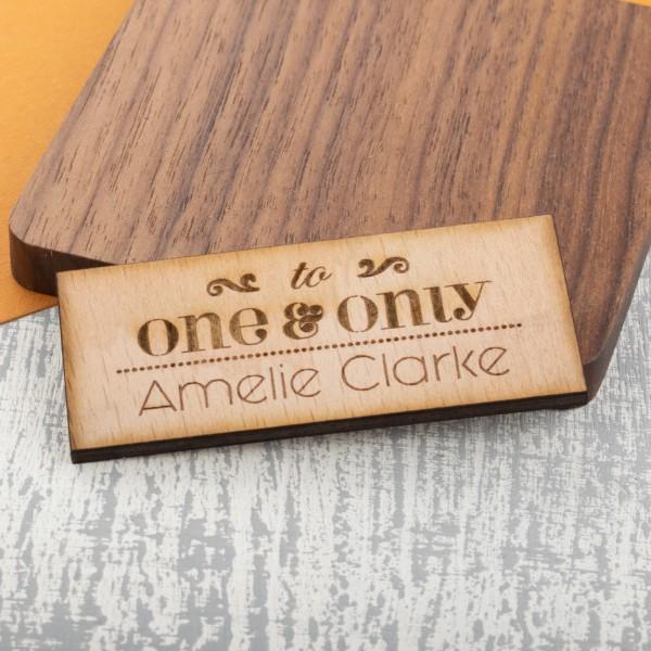 Personalised Wooden Fridge Magnet
