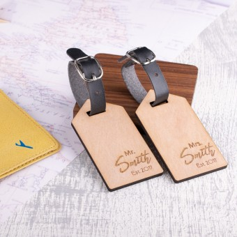 Personalised Wooden Luggage Tag - WLT-117