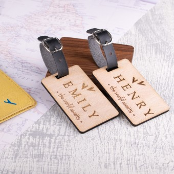 Personalised Wooden Luggage Tag - WLT-112