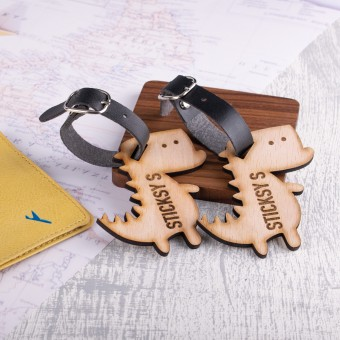 Personalised Wooden Luggage Tag - WLT-110