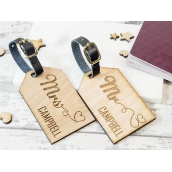 Personalised Wooden Luggage Tag - WLT-101
