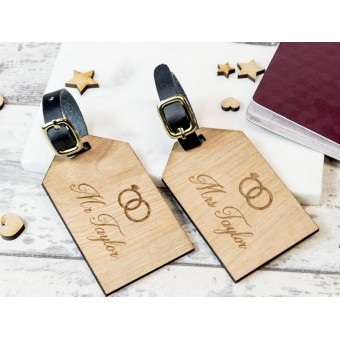 Personalised Wooden Luggage Tag - WLT-103