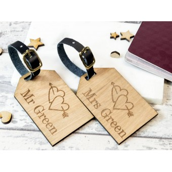 Personalised Wooden Luggage Tag - WLT-104