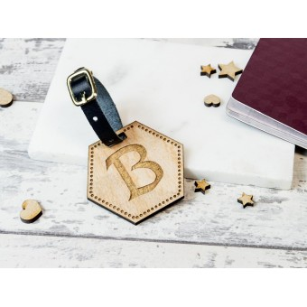 Personalised Wooden Luggage Tag - WLT-106