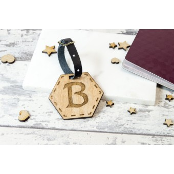 Personalised Wooden Luggage Tag - WLT-107